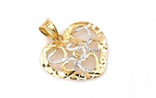 Zlatý dámsky prívesok HEARTS IN HEART