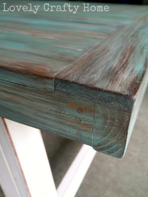 Best 25 blue wood stain ideas that you will like on pinterest red wood stain stained table - How to make rustic wood furniture ...