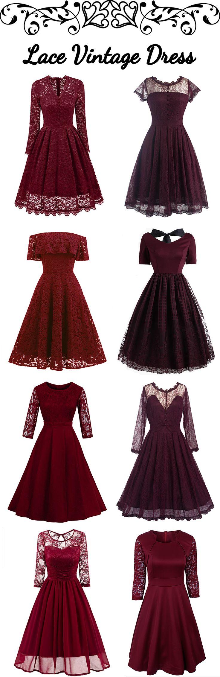 100+ Lace Vintage Dresses | Low to $2.99 | #bottomprice #vintage #Dress
