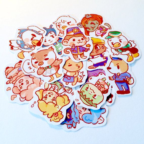 Animal Crossing New Leaf Stickers by PeachMagica on Etsy