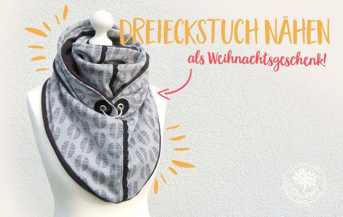Freebook Dreieckstuch: Wickelschal für die Lybsten nähen - Lybstes.