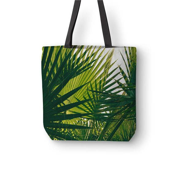 Palm Leaf Bag Tropical Canvas Tote Nature Tote Bags Wine