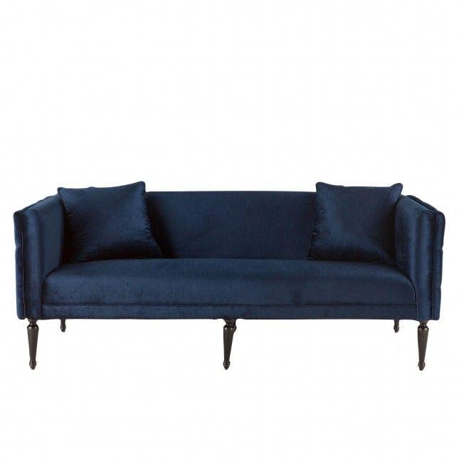 Sofa Sale Collins Navy Velvet Sofa