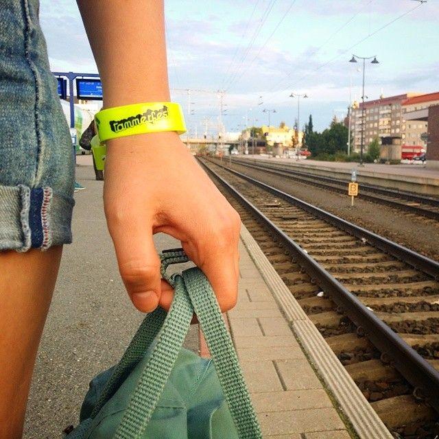 Elisa Lompakko -tiimi matkalla Tammerfesteistä kotiin. #elisalainen