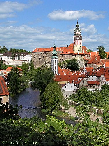 The medieval town and castle of Český Krumlov , a UNESCO World Heritage site.