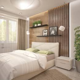 This minimalistic Bedroom by Interior designers Pavel and Svetlana Alekseeva shows how you can pimp up every small room.