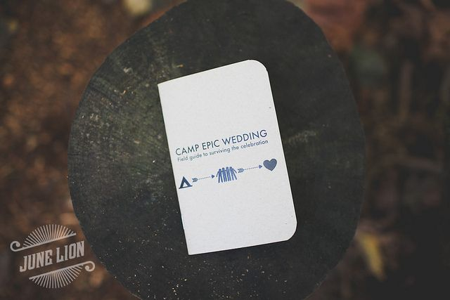Loved what they did with the program!    + Garrett's Camp Epic Wedding by BethOlsonCreative, via Flickr