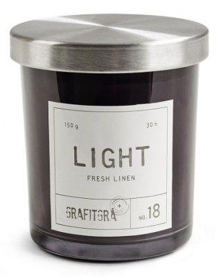 Doftljus+GRAFITGRÅ+-+Fresh+linen