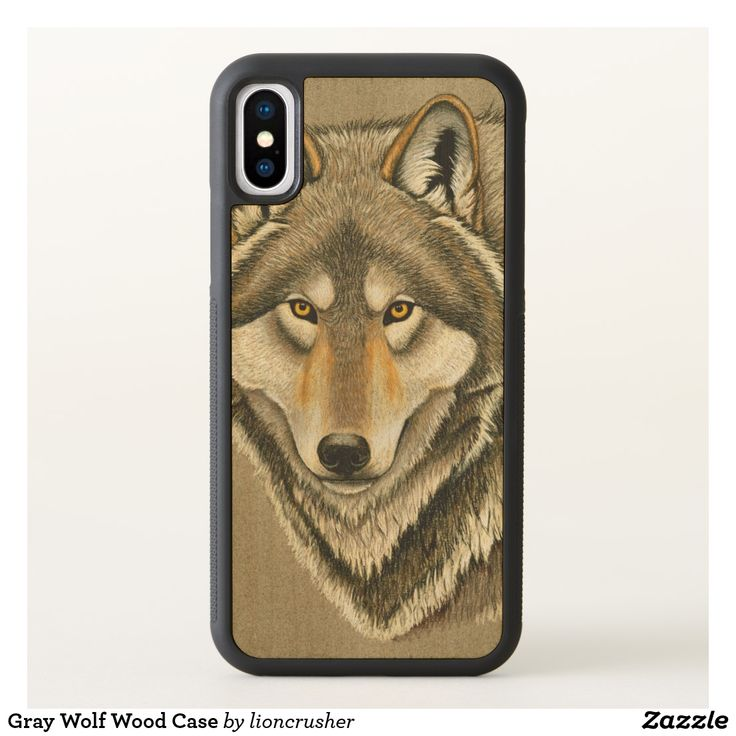 Gray Wolf Wood Case by Rebecca Wang on Zazzle. Individually handmade by artisans using natural wood, available in maple, cherry, or walnut. Images are printed on a wood inlay with two coats of protective finish – images are not actually carved into the wood UV print on wood inlay provides a textured feel, vivid color, and long-lasting image.