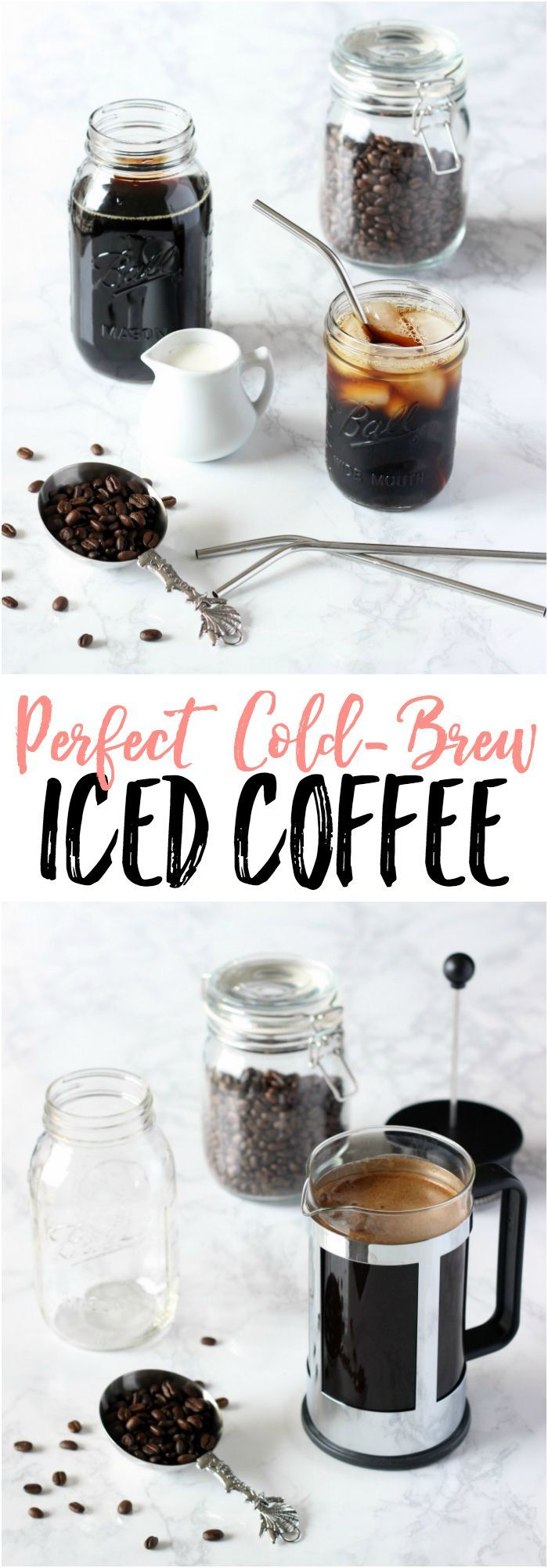 Need a wake up call?? Learn how to make PERFECT Cold Brew Iced Coffee right at home! It's so easy!