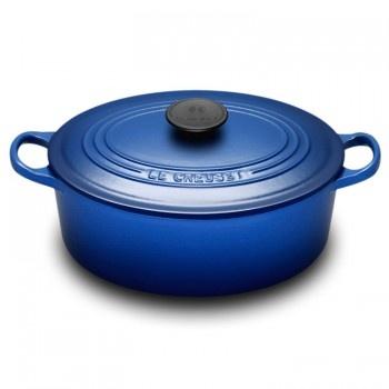 "Le Creuset ""Cobalt Blue"" 27cm Oval French Oven - Teddingtons"