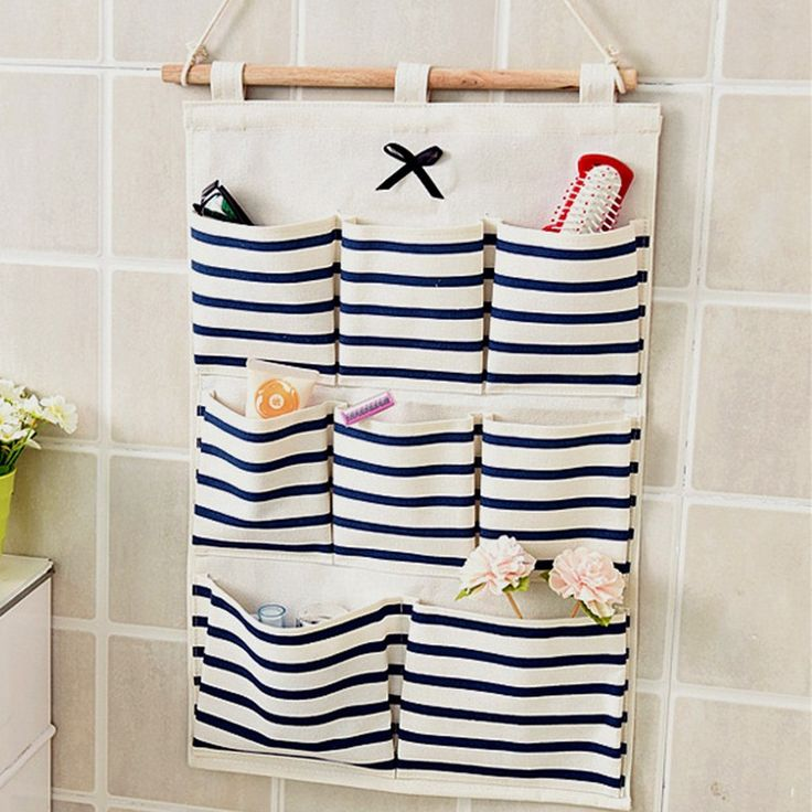 Sundry Cotton Wall Hanging Organizer Bag Multi layer Holder Storage Bag Home Decoration Makeup Rack Linen Jewelry 5 Aad 8 Pocket-in Storage Bags from Home & Garden on Aliexpress.com | Alibaba Group