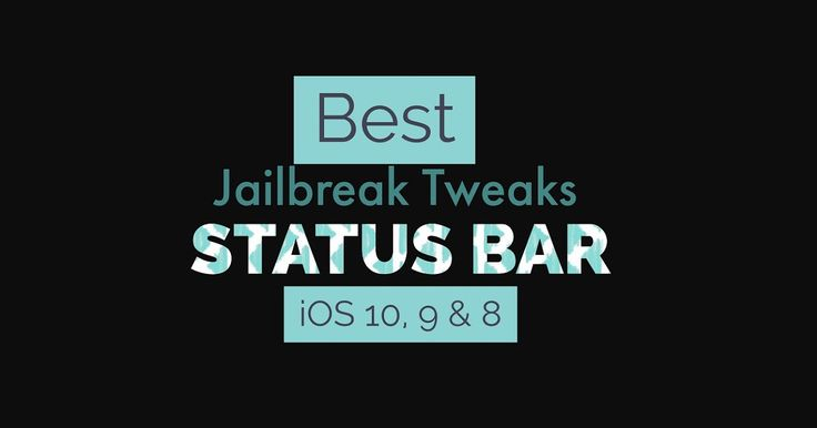 http://ift.tt/2psjTk6 Jailbreak Tweaks for Status Bar in iOS 10 http://ift.tt/2qOJtEx  Want some best Status Bar tweaks for iOS 10? iOS has same old style status bar since it was released and you mightgetting bored seeing the iOS old Status Bar on your iPhone/iPad. By default Apple doesn't allows you to customize your iOS 10 status bar.  But if you havejailbroken your iPhone on iOS 10 then you can beautifully customize your Status Bar the way you want with thesecompatible Status Bar tweaks…