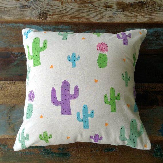 Cushion  Block Printed Cushion  Pillow Cover  Beige by UniqueLulu