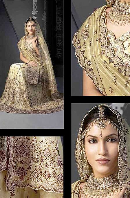 Match Wonderful Indian Wedding Dresses With Jewelries
