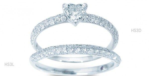 ハートシェイプカットの可愛いダイアモンドリング❤パヴェの結婚指輪・マリッジリングの一覧❤