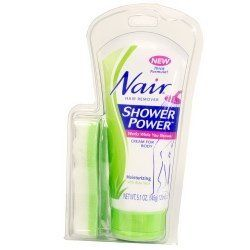 Nair Moisturizing Shower Power Hair Removal Cream with Aloe Vera-5.1 oz by Nair. $4.99. It's used on arms, underarms, legs and bikini area.. It is shower away to smooth, silky skin that lasts longer than shaving for effective hair removal.. Nair Shower Power Hair Remover Moisturizing Body Cream with Aloe Vera works while you shower cream for body moisturizing with Aloe Vera.. New Thick Formula!Nair RemoverShower PowerWorks While You ShowerCream For BodyMoisturizing ...