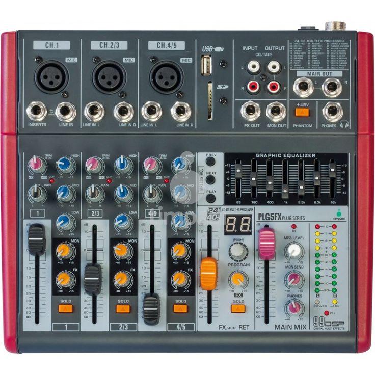 Mixer analogico PLG5FX Mixer analogico PLG5FX a 5 canali con lettore MP3 senza display (U-DISK USB/SD card). 3 Ingressi Mic Preamp con LOW-CUT singoli 2 Ingressi Stereo EQ grafico a 7 bandeProcessore di effetti 24-bit/40kHz tra cui reverse, delay, echo, chorus e riverbero EQ (High, Middle, Low), FX, Gain, PAN, SOLO, MUTE su singolo canale […]