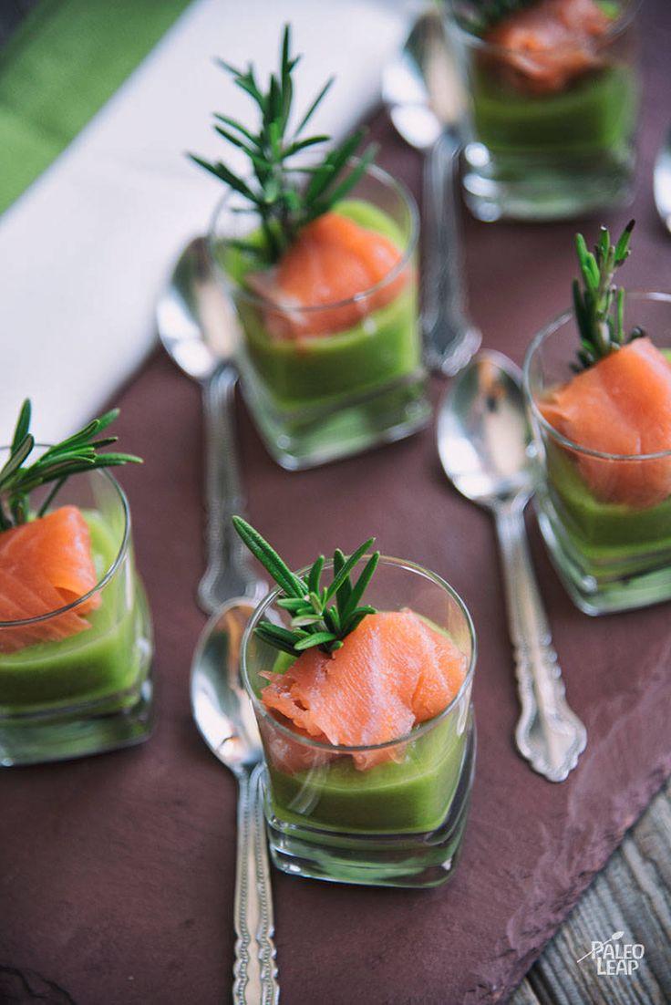 Asparagus Mousse With Smoked Salmon #Paleo