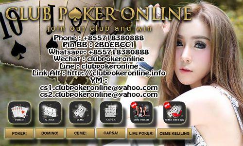 http://clubpokeronline.co/agen-judi-kartu-remi-online-uang-asli-terpercaya-indonesia/  Clubpokeronline.info - Situs Agen Judi Kartu Remi Online Uang Asli Terpercaya Indonesia - Aplikasi QQ Poker Online Smartphone iOS Android Tanpa Download   Agen Judi Kartu Remi Online Uang Asli Terpercaya Indonesia, qq poker online indonesia smartphone ios android, game judi kartu remi capsa susun, club poker online indonesia uang asli, situs agen judi poker qq online fasilitas bank terlengkap, registrasi…