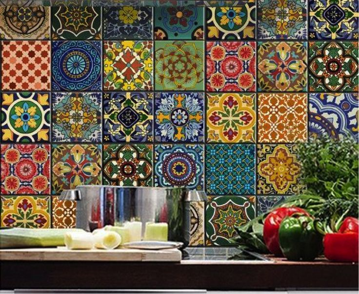 This mosaic artwork is inspired and decorated with Mexican traditional folk art patterns. Description from blog.mozaico.com. I searched for this on bing.com/images