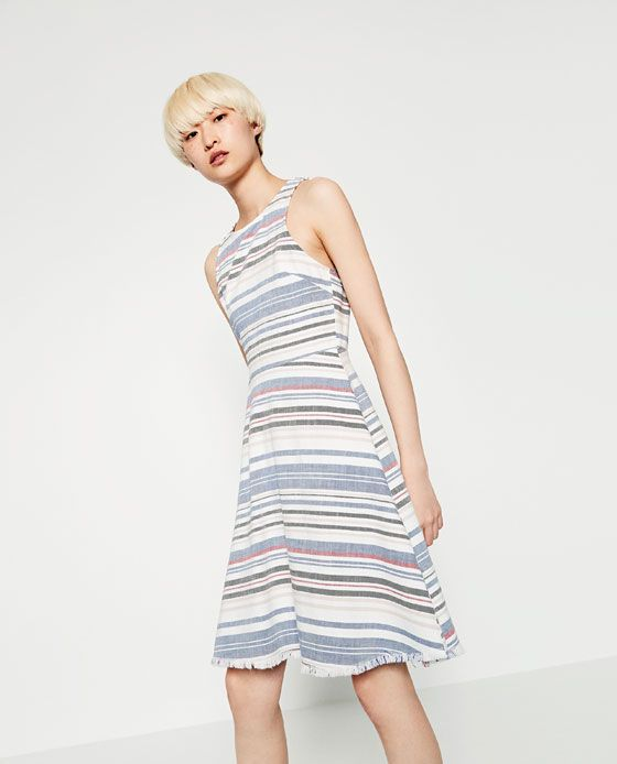 Image 4 of MULTICOLOURED STRIPED DRESS from Zara