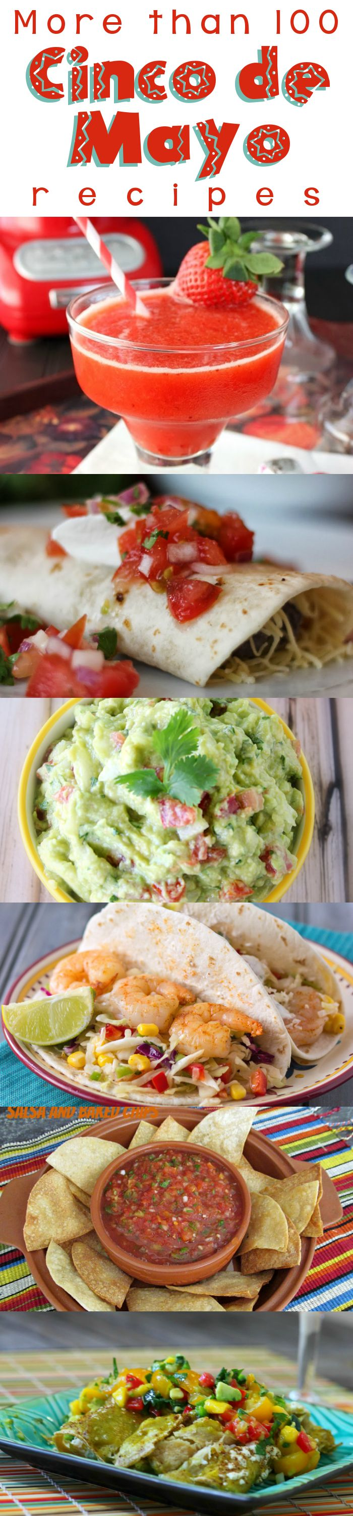 Cinco de Mayo Round-Up - More than 100 Mexican/Tex-Mex recipes from your favorite food bloggers! #CincoDeMayo #Mexican #roundup