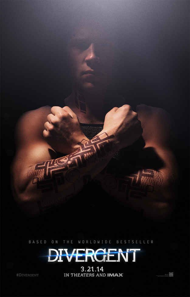"Here's your first look at Dauntless leader Eric! | Exclusive ""Divergent"" Poster Reveals Dauntless Tattoos"