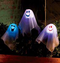 Fiber Optic Halloween Pumpkin Decorations