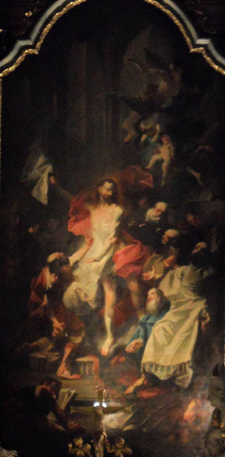Franz Anton Maulbertsch - Zjevení Krista sv. Tomášovi (1764, Brno, kostel sv. Tomáše)