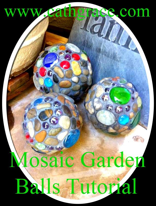 Garden decoration - DIY Garden balls - would be nice for trim