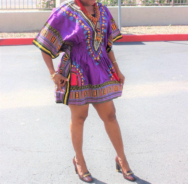 Trendy Dashiki top/dress, Elastic Waist Dashiki, dashiki camicia, dashiki, African wax, robe africaine, tissus Africain, tessuti africani by Africshop on Etsy