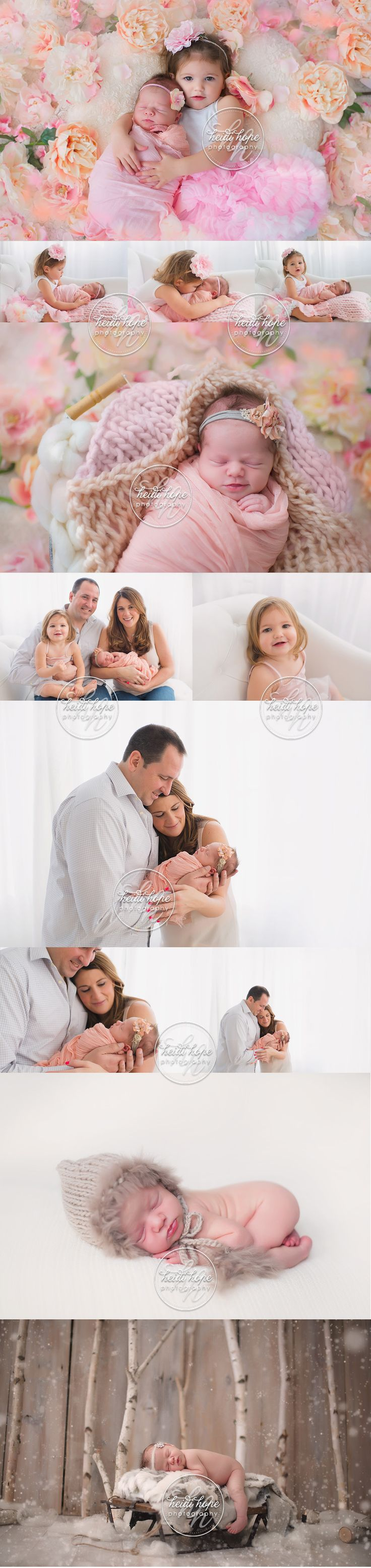 Family | Siblings | Newborn | Sisters | Floral | Girly | Blog | Heidi Hope Photography