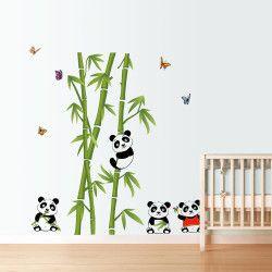 Cute pandas!  Passa på och dekorera barnrummet med detta unika panda väggdekor, they'll love it :) Förutom motivet är storleken direkt iögonfallande!  Länk till produkt: http://www.feelhome.se/produkt/cute-pandas/  #Homedecoration #art #interior #design #Walldecor #väggdekor #interiordesign #Vardagsrum #Kontor #Modernt #vägg #inredning #inredningstips #heminredning #natur #djungel #fjäril #träd #barn #barnrum #barninredning