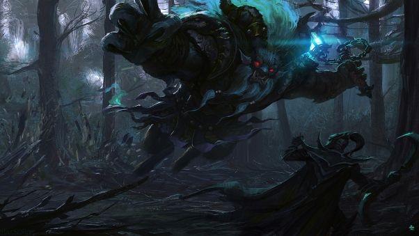 Wallpaper spirit breaker, versus, phantom assassin, dota 2