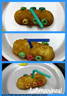Submarine snack is a great snack for your ocean unit or ocean theme.  Ocean snack.