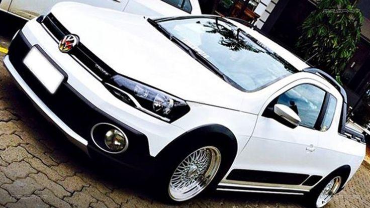 """Volkswagen Saveiro Cross 2014 com rodas BBS  aro 17""""   e pneus Nankang 195/40/17 foto 2"""