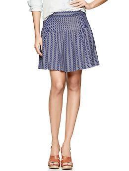 Printed pintuck skirt | Gap