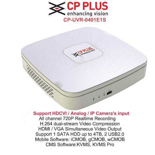 CP Plus HD DVR Standalone 4Ch. Model:CP-UVR-0401E1S