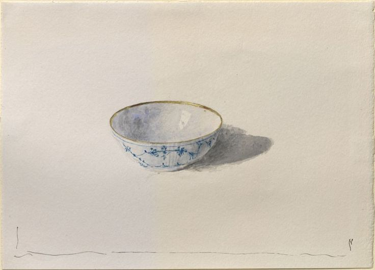 john ruskin -- a study of modern danish porcelain -- c1871 -- watercolor over graphite on wove paper -- ashmolean museum (university of oxford)