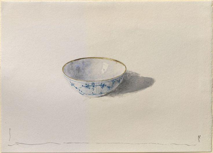 john ruskin -- a study of modern danish porcelain -- c1871 -- watercolor over graphite on wove paper -- ashmolean museum (university of oxford)