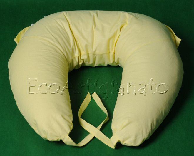 Cuscino Allattamento 180cm con Federa Lavabile, Cotone e Pula di Farro Biologica