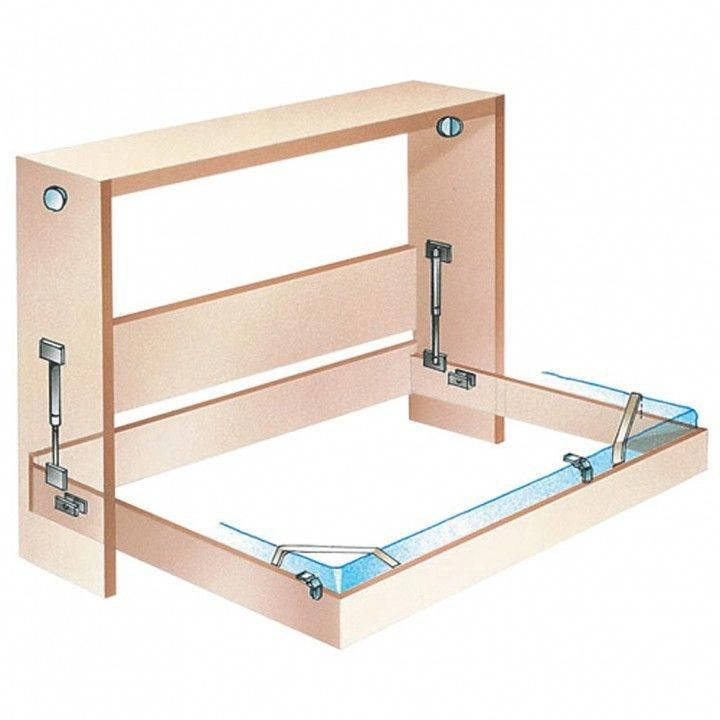Side Mount Murphy Bed Hardware In 2020 Bed Hardware Murphy Bed