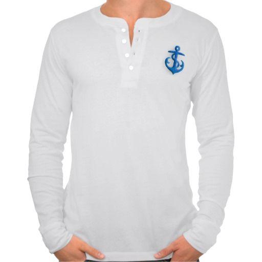 Blue Felt Anchor Shirt