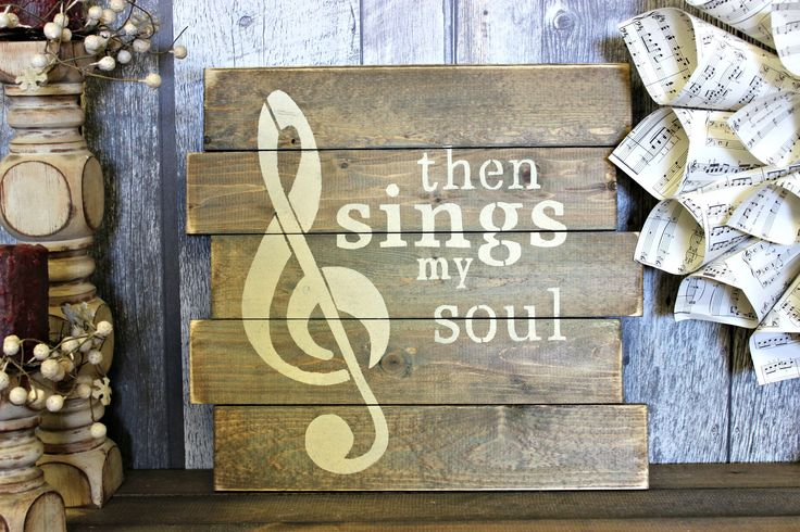 Then Sings My Soul. Rustic Decor. Wood Sign. Country Decor. Wall Decor. Living Room. Gift. Made In Canada. Distressed. by WhereTheCrowFliesCA on Etsy