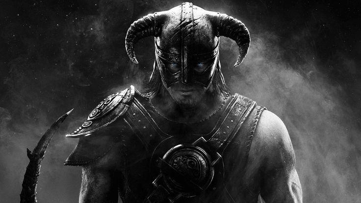 Довакин. The Elder Scrolls V: Skyrim большие черно-белые обои, картинки, фото