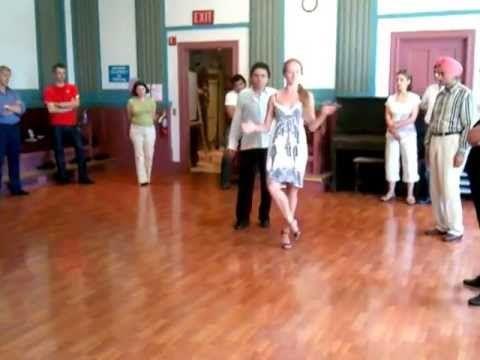 Argentine Tango Class Sanguchito with Gancho & Cadena  Mat M www.tangona...