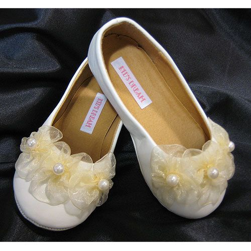 3 Pearl Girls Ballerina slippers KBS003G $24.95 on www.GirlsDressLine.Com