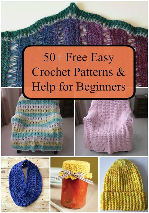 50+ Free Easy Crochet Patterns and Help for Beginners ...