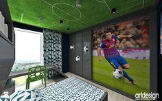 pokój dla dziecka z motywem piłka nożna - zdjęcie od ARTDESIGN architektura wnętrz